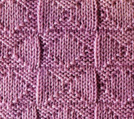 Diamonds and Crosses Knit Stitch