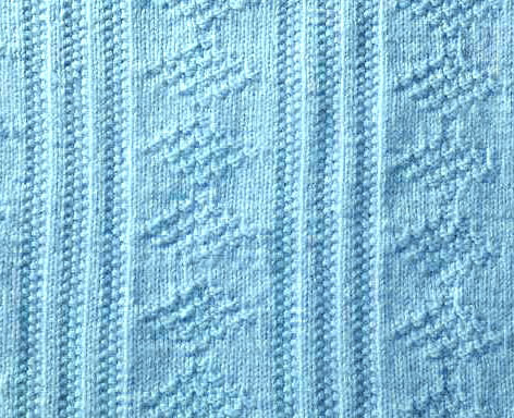 Diamonds and Vertical Lines Textured Knit Stitch