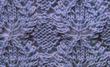 Diamonds, Leaves and Cables Knit Stitch