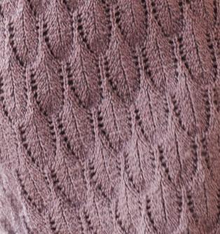 Feather Lace Knit Stitch Free Knitting Kingdom
