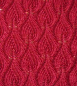 Flames Knitting Stitch