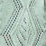 Large Diamond Lace Panel Knit Stitch