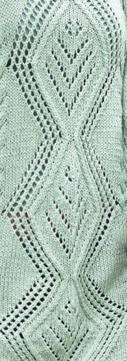 Large Diamond Lace Panel Knit Stitch