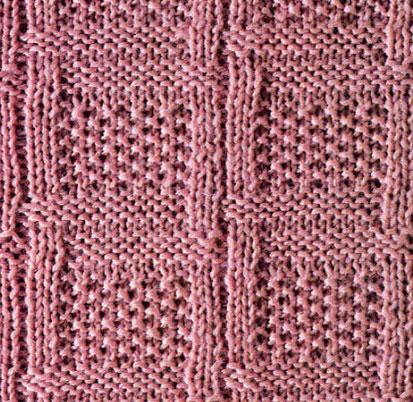 Moss Stitch Checks Knit Stitch