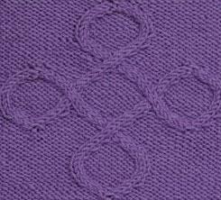 Quatrefoil Cable Knit Stitch