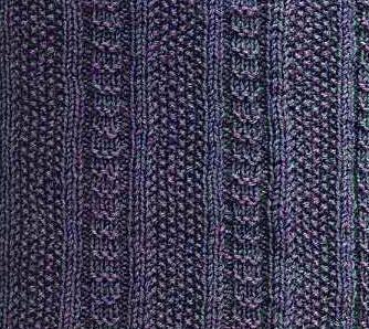 Textured Knit Stitch Vertical