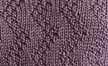 Zig Zag Moss Stitch Knit Pattern