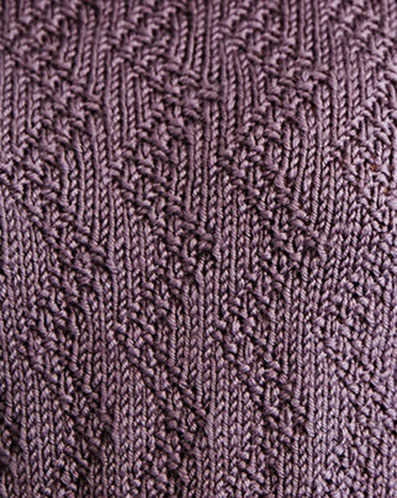 Zig Zag Moss Stitch Knit Pattern Knitting Kingdom