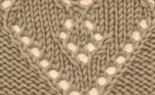 Lace Heart Knitting Stitch Free