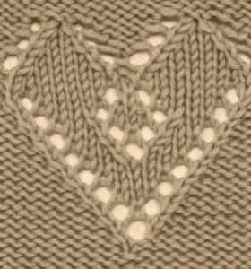 Lace Heart Knitting Stitch Free