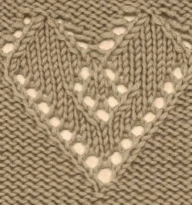 Tag Knitted Heart Patterns Knitting Kingdom