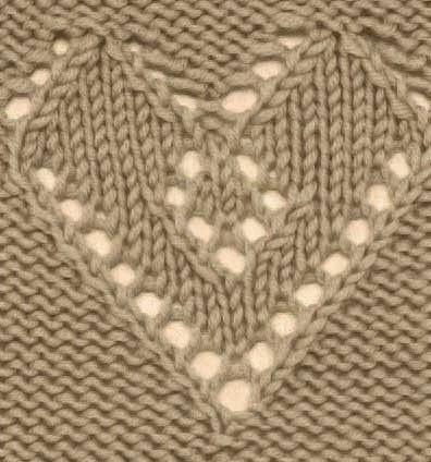 Lace Heart Knitting Stitch Free Knitting Kingdom