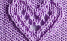 Lacy Heart Knitting Stitch