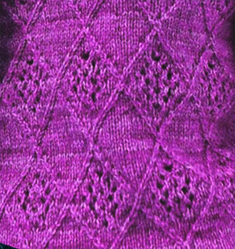 Lattice and Lace Knitting Stitch