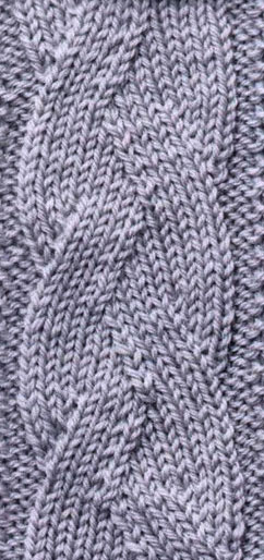 Mock Plait Cable Knitting Stitch