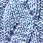 Mock Snake Cable Knitting Stitch