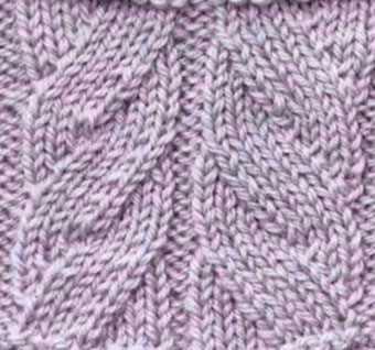Right and Left Cross Mock Cable Knitting Stitch