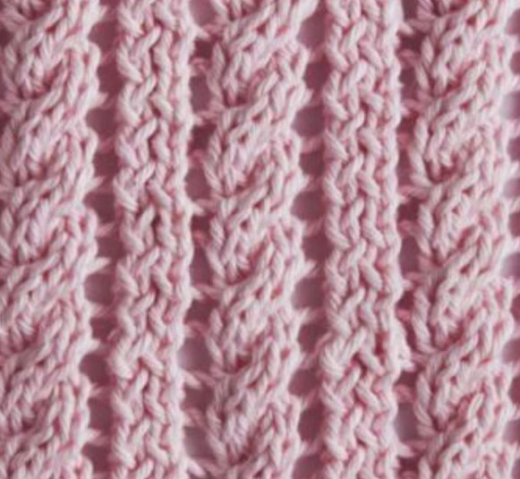 Rope And Eyelet Knitting Stitch Knitting Kingdom