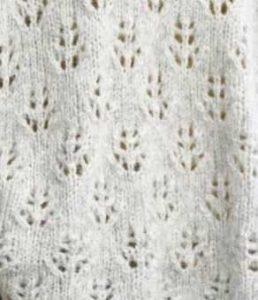 Pine Cone Pattern, lace knitting pattern stitch.
