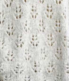 Pine Cone Pattern, lace knitting pattern stitch.