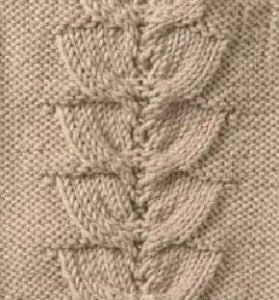 Semicircle Cable and Lace Knitting Stitch