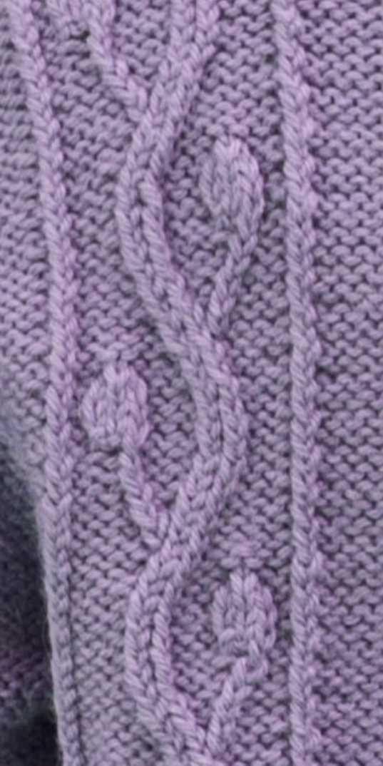 Buds on a Vine Knitting Stitch