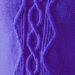 Figure 8 Cable and Twisted Rib Chevron Panel Knitting Stitch