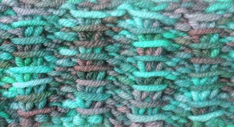 Rib Stitch for Variegated Yarn