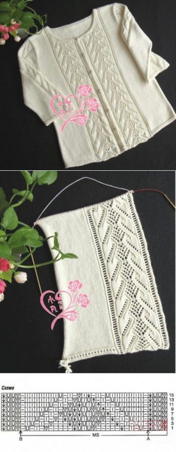 Lace knitted edge stitch great for clothes