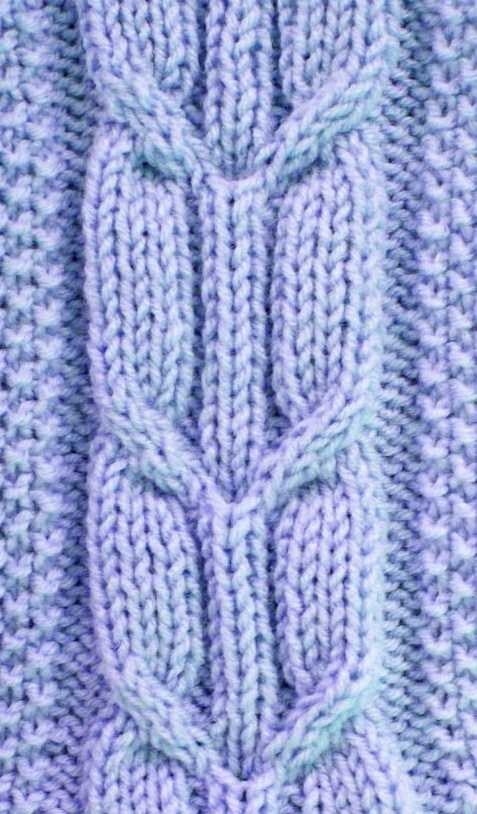 Crossed Arrow Cable Stitch Pattern