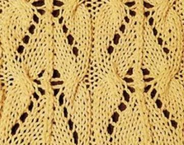 Cable and Lace Chevron Knitting Stitch