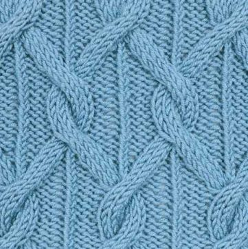 Continuous Cable Knitting Stitch