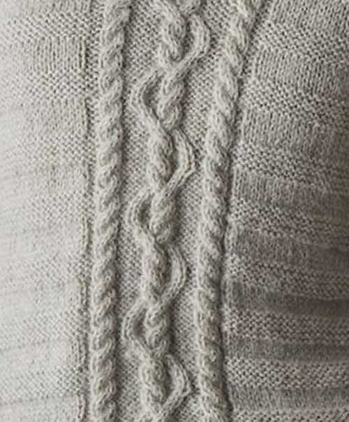 Curvy Rope Cable Knitting Stitch