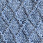 Diamond Lattice Knitting Stitch