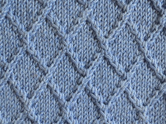 Diamond Lattice Knitting Stitch