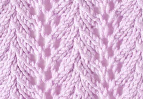 Free Knitting Stitch Fern Lace