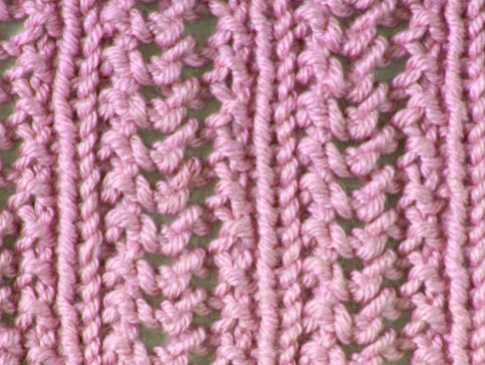 Free Knitting Stitch Herringbone Lace