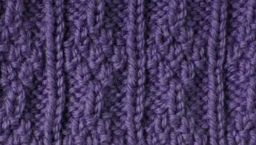 Free Knitting Stitch Moss Panels