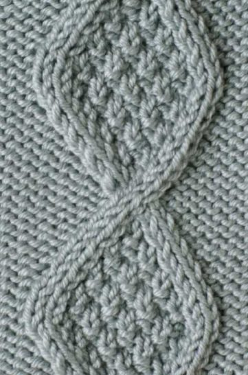 Tag Free Diamond Cable Knit Stitch Knitting Kingdom