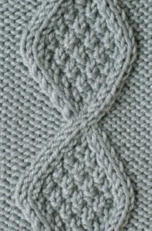 Free Knitting Stitch Textured Diamond Cable Panel