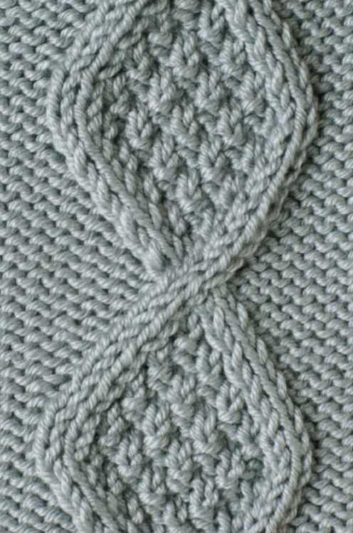 Free Knitting Stitch Textured Diamond Cable Panel ...
