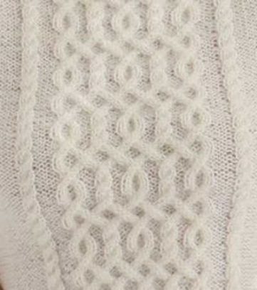Intricate cable panel stitch chart knitting