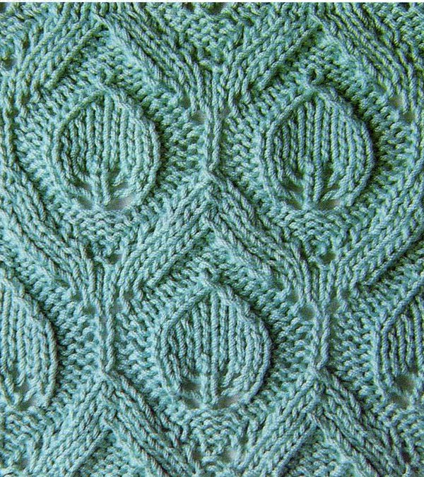 Lace Leaf in Embossed Diamond Knitting Stitch