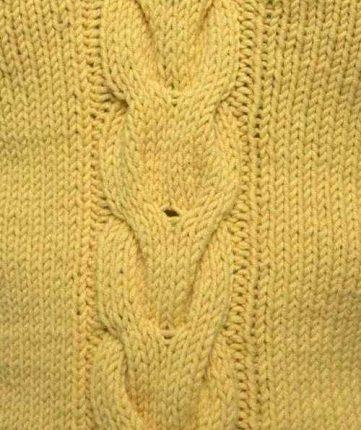 Long V Shaped Cable Knitting Stitch