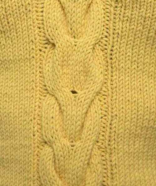 Long V Shaped Cable Knitting Stitch
