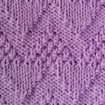 Moss Stitch Chevron Knitting Stitch Free