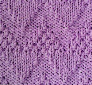 Moss Stitch Chevron Knitting Stitch Free
