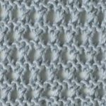 Ridged Eyelet Stitch Free Knitting