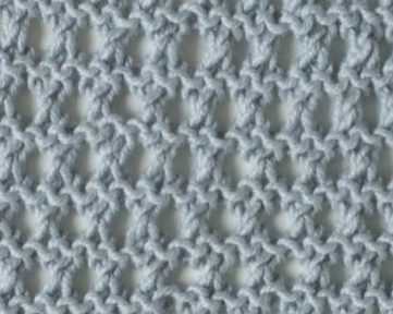 Ridged Eyelet Stitch Free Knitting