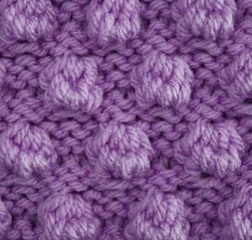 Free Bobble Knitting Stitch Pattern